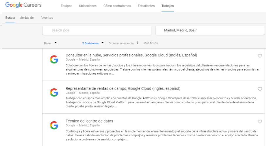 Trabajar en Google