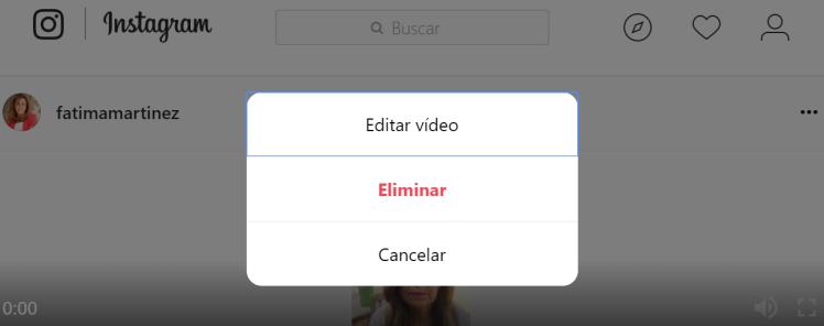 Editar vídeo IGTV