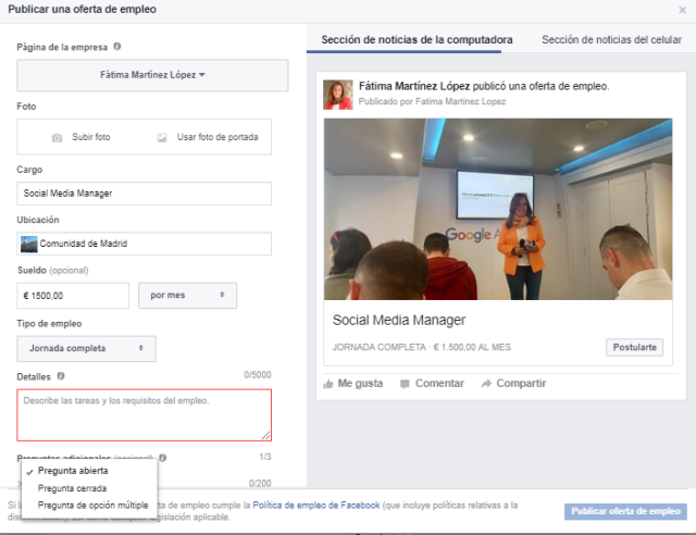 Facebook oferta de empleo1